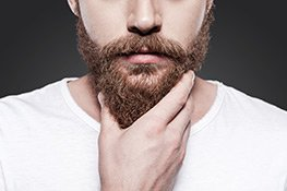 Mann mit gepflegten Bart