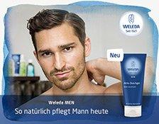 Das Weleda Men Aktiv Showergel pflegt die Männerhaut