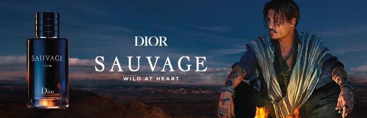 Johnny Depp mit Sauvage Flakon