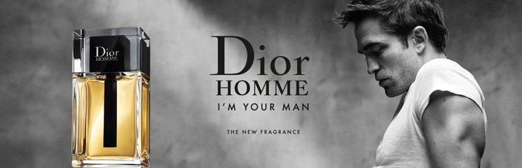 Robert Pattinson und Dior Homme Eau de Toilette Flakon