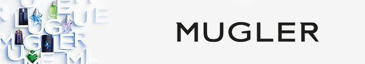 MUGLER Logo mit Flakons