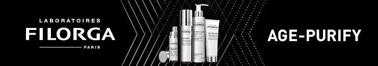 FILORGA Markenbanner mit Logo und Produkten