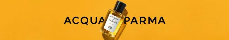 Markenlogo und Parfum Flakon von Acqua di Parma