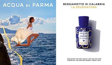 Frau und Acqua di Parma Bergamotto di Calabria La Spugnatura