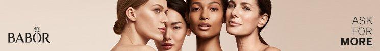 Frauen und Markenlogo von Babor
