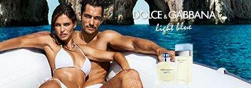 Flakons von Dolce&Gabbana Light Blue und Mann mit Frau