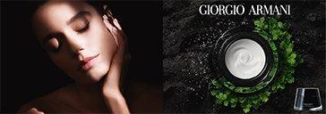 Creme von Giorgio Armani und Frau