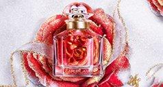 Rote Rose mit Mon Guerlain Flakon