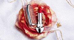 Rote Rose mit Rouge G Lippenstift