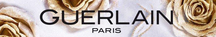 Guerlain Logo mit goldenen Rosen