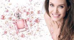 Angelina Jolie und Mon Guerlain Parfum Flakon