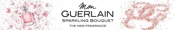 Markenlogo und Mon Guerlain Sparkling Bouquet Flakon