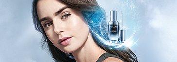 Lancôme Pflege Produkt und Frau