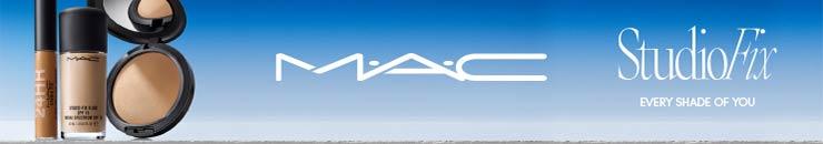 Markenlogo und Studio Fix Produkte von MAC
