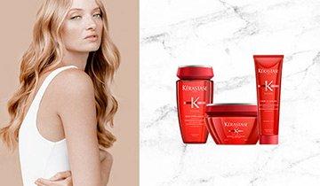Kérastase Soleil Produkte und Frau