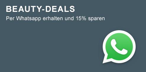 Mit Whatsapp 15% sparen